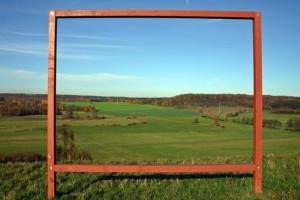 草原とフレーム